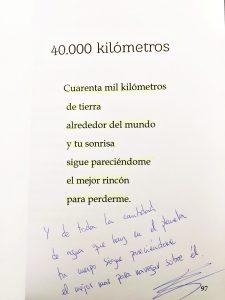 Poesia a 40.000km de Cesar Poetry firmada